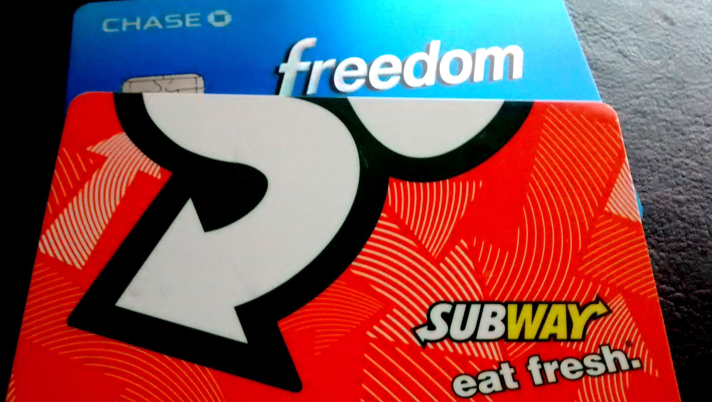 Chase Freedom and Subway Rewards