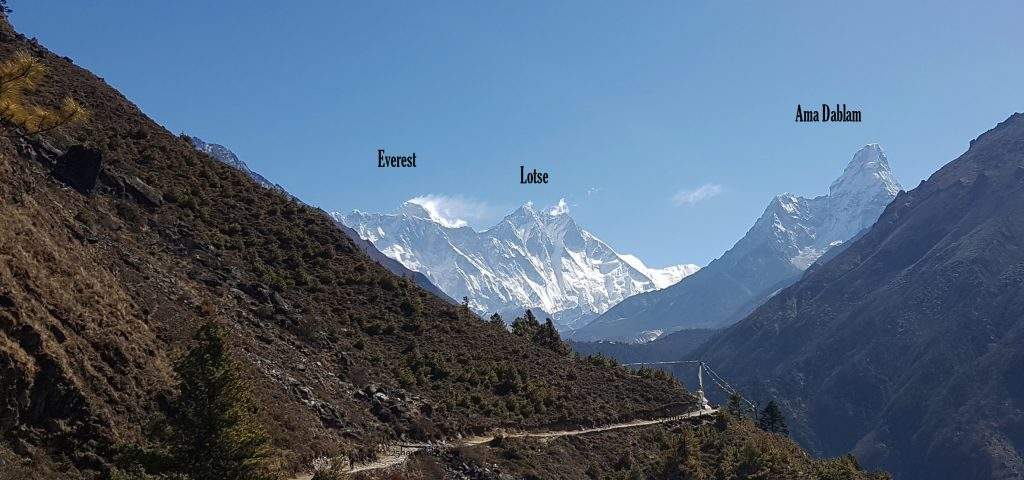 Everest, Lotse, and Ama Dablam